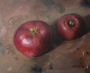 a study of apples oil on board