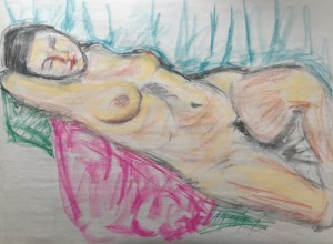 figure study in color pastels