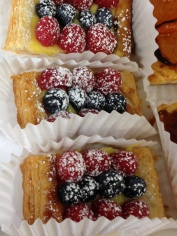 Berry Strip Tarts; Bavarians & Custards, Commercial Baking