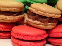 Raspberry, Coffee, Pistachio Macarons; Petit Four Sec, Demi-Sec & Italian Cookies