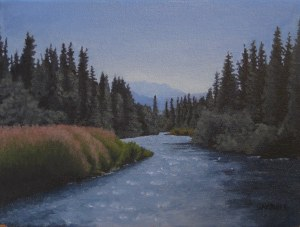 river float, alaska oil on canvas