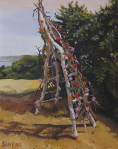 wedding arch, pigeon hill rockport, ma oil on canvas