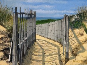 path to dionis, nantucket , ma oil on canvas